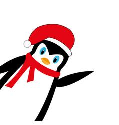 cartoon new year s penguin vector image