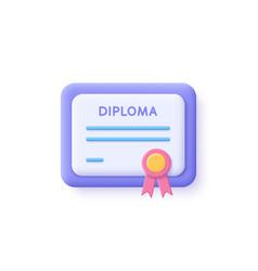 certificate icon achievement award grant vector image