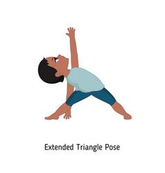 child doing yoga child doing yoga vector image