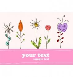 children gift card flower background vector image