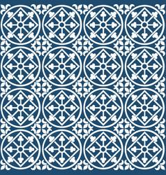 Circular portuguese pattern vector