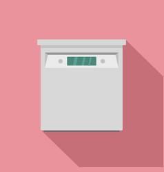 closed dishwasher icon flat style vector image