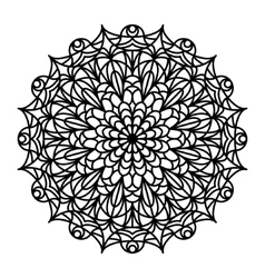 Coloring Book Mandala vector image