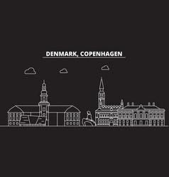 copenhagen silhouette skyline denmark vector image