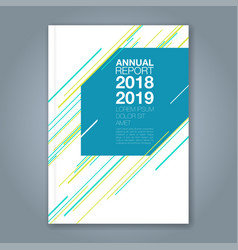cover annual report 892 vector image