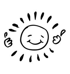 Creative black and white happy sun vector