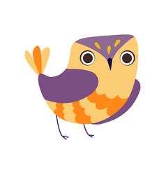 Cute owlet adorable colorful owl bird vector