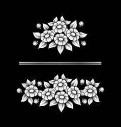 daisy white bouquetes vector image