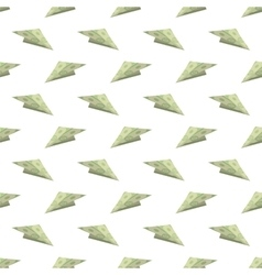 Dollar Paper Concept Plane Seamless Pattern vector image