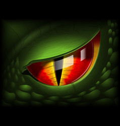 Dragon eye realistic 3d image vector