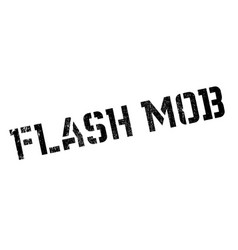 flash mob rubber stamp vector image