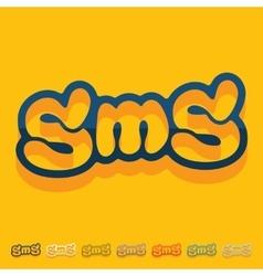 Flat design sms message vector