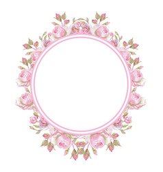 Floral vintage frame Wedding rings vector