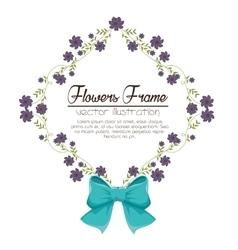 Flowers beautiful frame decorative vector
