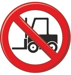 forbidden use of forklift vector image