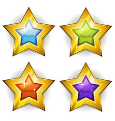 funny stars icons for ui game vector image