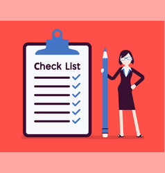Giant check list vector