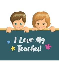 Holiday card Teachers Day vector