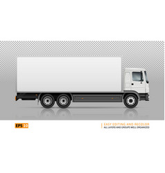 Isolated truck on transparent background vector