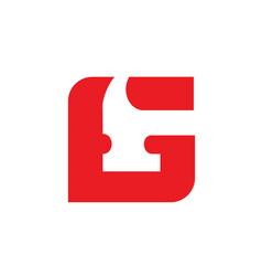 letter g hammer logo renovation or repairment vector image