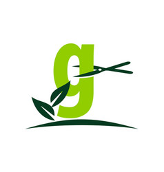 Letter g lawn vector