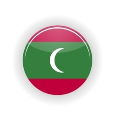 Maldives icon circle vector image
