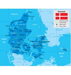 map denmark vector image