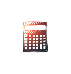 mathematics calculator math education school vector image