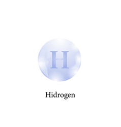 molecule of hidrogen chemical element of the vector image