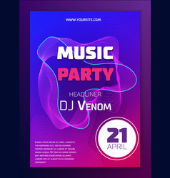 music poster dynamic gradient shape and line vector image