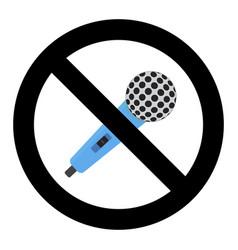 no microphone symbol vector image