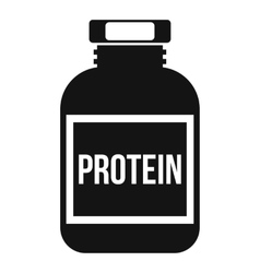 Nutritional supplement for athletes icon vector