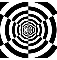 Optical art infinity tunnel vector