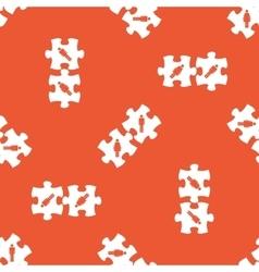 Orange people puzzle pattern vector