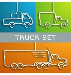 Paper truck set vector image
