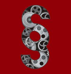 Paragraph symbol with gear vector