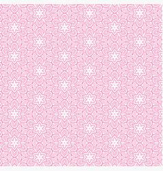 Pink flower line pattern background vector