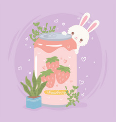 Rabbit with soda can vector