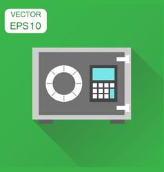 Safe deposit icon business concept safe pictogram vector