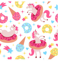 seamless pattern with fun vector image