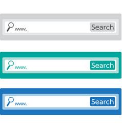search bar icon vector image