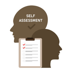 Self assessment concept personal review check vector