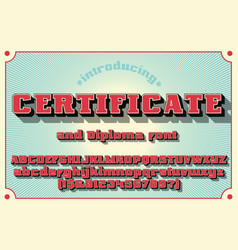 Sertificate and diploma font vector