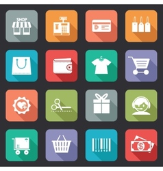 Set colorful purchase icons in flat style vector