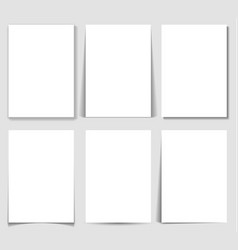 set paper effect with transparent realistic vector image