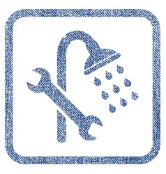 Shower plumbing fabric textured icon vector
