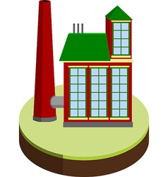 small factory vector image