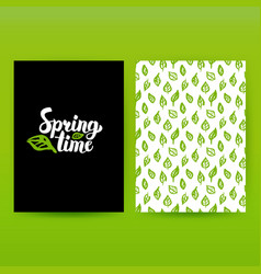 spring time green poster vector image vector image