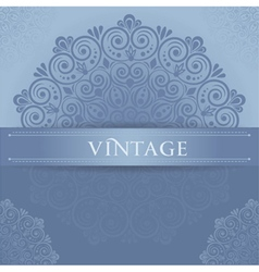 Stylish vintage vector image