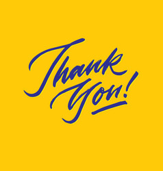 Thank you hand lettering typography vector